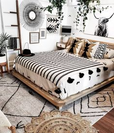 Bohemian Bedroom Decor, Bohemian House, Tribal Bedroom, Modern Bohemian, Western Bedroom Decor, Boho Style Decor, Western Bedrooms, Boho Life, Nature Bedroom