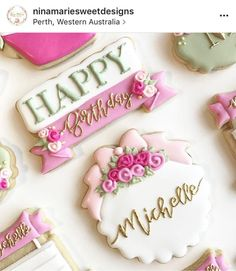"""260 Likes, 9 Comments - Judit Reding (@thesweetdesignsshoppe) on Instagram: """"Look at these perfect cookies by @ninamariesweetdesigns . She is using our Happy Plaque and our…"""""""
