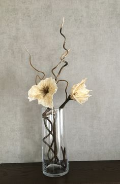 Felted branches and flowers