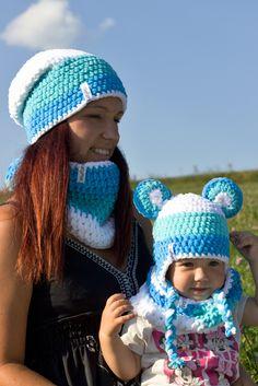 Ručně háčkované čepičky s láskou Free Crochet, Knit Crochet, Crochet Hats, Finger Knitting Projects, Crochet Shawls And Wraps, Kids Hats, Cat Toys, Crochet Patterns, Handmade