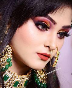Bridal Makeover, Indian Makeup, Big Fat Indian Wedding, Bridal Makeup, Septum Ring, Bride, Earrings, Model, Image
