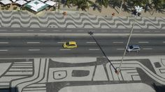 Pavement design on both sides of a highway by Burle Marx.