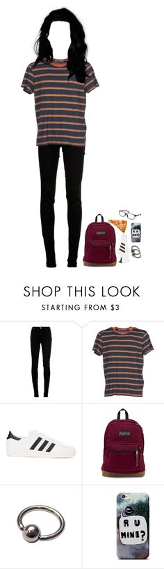 """""""Happy Friday the 13th"""" by xxghostlygracexx ❤ liked on Polyvore featuring dVb Victoria Beckham, Levi's, adidas Originals, JanSport and POLICE"""