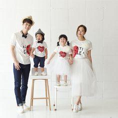 MiNiKQ 1pc 95%  Cotton Mother&Son Matching T-shirt Father Daughter Matching Summer Fashion Casual Short T-shirt