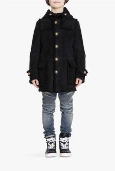 Shearling duffle-coat | Children's Clothing | Balmain