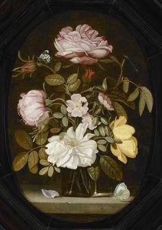In de 17e eeuw staat Middelburg bekend om haar prachtige tuinen, met bijzondere planten en exotische bloemen. De stad kent de stad ook een belangrijke traditie van bloemschilders. Johannes Goedaert (1617-1668) is behalve schilder ook insectenkenner. De insecten zijn in dit stilleven zo goed weergeven dat we ze kunnen identificeren, zoals bijvoorbeeld rechtsboven het lantaarntje als waterjuffer.