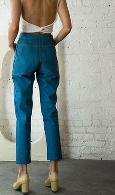high waisted trousers #fashion #highwaisteddenim