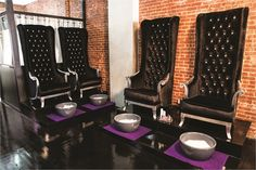 """The hardest part of bringing her vision to life was the custom-made pedicure chairs. """"I designed them with a furniture company overseas."""