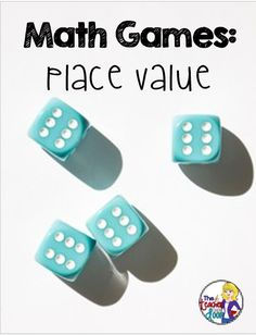 Read about some engaging, free math games you can use to practice place value, as well as fractions, measurement and data. Great way to sharpen skills and kids think they're fun! Free Math Games, Fun Math, Dice Games, Kids Math, Math Place Value, Place Values, Math Stations, Math Centers, Math Resources
