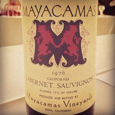 1976 Mayacamas Cabernet Sauvignon : old fashioned Napa Cabernet Sauvignon that has aged to perfection: now supple, savoury and gorgeous