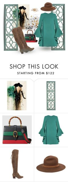 """""""Boots!"""" by gagenna ❤ liked on Polyvore featuring Leftbank Art, Pier 1 Imports, Gucci, ALDO, rag & bone, Kendra Scott, Heels, gucci, pixiemarket and theoutnet"""