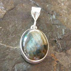 Pendant in Sterling Silver with Bezel Set Labradorite Gemstone £15.00