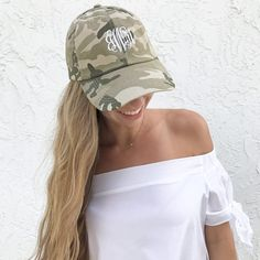 So Cute in Camo.... We Just Can't Stand It!!!  Shop Here: https://shopilovejewelry.com/products/monogram-camille-camo-hat #Club_Glamour #Fashion #Trends #Jewelry #Rings #necklaces #pendants  #jewelry #handmadejewelry #instajewelry #jewelrygram #fashionjewelry #jewelrydesign #jewelrydesigner #FineJewelry #jewelryaddict #bohojewelry #etsyjewelry #vintagejewelry #customjewelry #statementjewelry #jewelrylover #silverjewelry #crystaljewelry #handcraftedjewelry #uniquejewelry #jewelryforsale…
