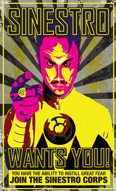 Sinestro Corps Poster by Heartattackjack.deviantart.com