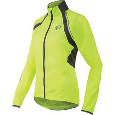 Pearl Izumi Women's ELITE Barrier Convertible Jacket - XL - Screaming Yellow / Smoked Pearl