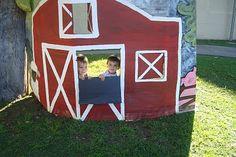 cardboard barn