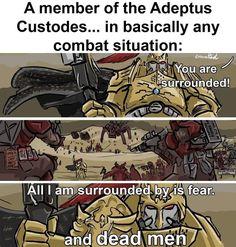 Warhammer 40k Memes, Warhammer Art, Warhammer Fantasy, Video Games Funny, Funny Games, Dnd Funny, Hilarious, Salamanders Space Marines, Anime Military