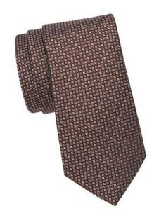 Saks Fifth Avenue Mini Diamond Silk Tie In Brown Diamond And Silk, Saks Fifth Avenue, Silk Ties, Mens Fashion, Brown, Mini, Classic, Shopping, Style