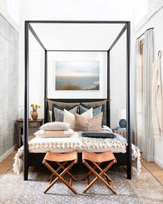 Elegant Canopy Beds Ideas For Romantic Bedroom. If you are looking for Canopy Beds Ideas For Romantic Bedroom, You come to the right place. Home Decor Bedroom, Modern Bedroom, Bedroom Furniture, Bedroom Ideas, Contemporary Bedroom, Eclectic Bedrooms, Dream Bedroom, Tiny Master Bedroom, Bohemian Bedrooms