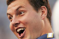 Philip Rivers of the San Diego Chargers doing a famous funny face of his. My favorite quarterback.