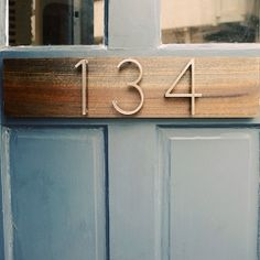 A Mid-Century modern DIY for your address numbers!