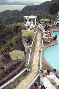 Wedding by the cliff (Tagaytay Philippines) Wedding Places, Wedding Things, Wedding Stuff, Tagaytay Philippines, Tagaytay Wedding, Wedding Reception, Wedding Venues, Brunei, Cliff