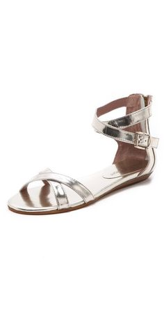 bettina flat sandals / rebecca minkoff