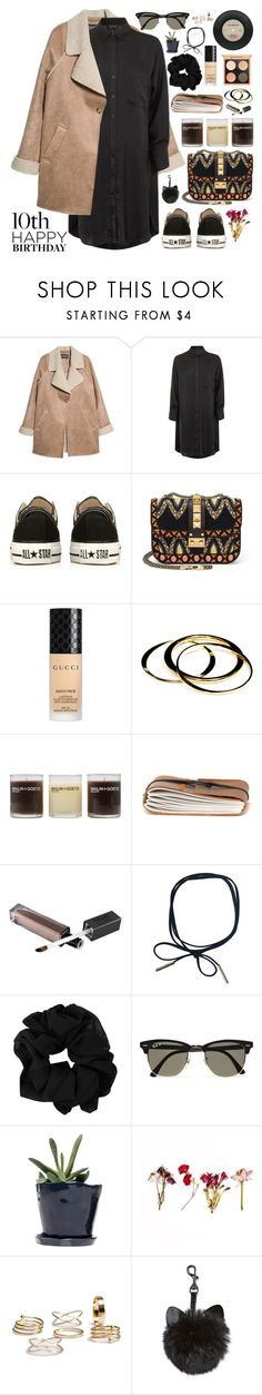"""2490. Lesson #1: Know Your Worth."" by chocolatepumma ❤ liked on Polyvore featuring MANGO, Topshop, Converse, Valentino, Gucci, Janna Conner, (MALIN+GOETZ), Ray-Ban and Dot & Bo"