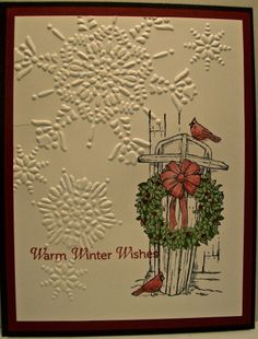 "Stampin Up Christmas Card Samples | ... Stamps: Winter Memories ""Holiday Catalog"" stamp set card sample"