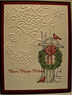 "Stampin Up Christmas Card Samples | ... Stamps: Winter Memories ""Holiday Catalog"" stamp set card sample"