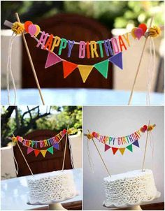 pennants for birthdays Diy Birthday Party In A Box, Happy Birthday Boy, Diy Birthday Banner, Birthday Party Decorations Diy, Happy Birthday Messages, Birthday Crafts, 3rd Birthday Parties, Craft Party, Birthday Bash