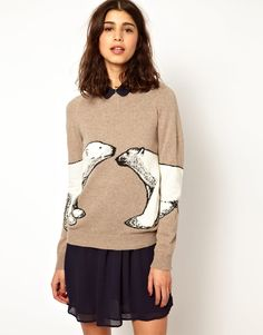 Paul & Joe Sister | Paul And Joe Sister Poar Bear Intarsia Knit at ASOS