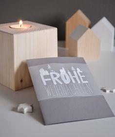 Weihnachtskarten mit Architektenpapier