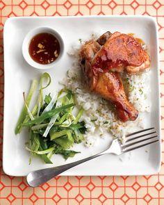 Teriyaki Chicken With Roasted Scallions   Martha Stewart