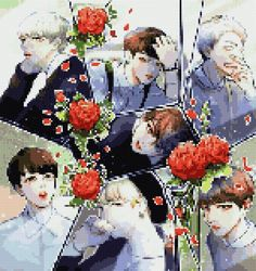 Mass props to the original creatour!!!!!!!!!  Absolutely magical!    BTS A.R.M.Y.,  WHERE YOU AT??? Pixel Pattern, Kawaii, Beautiful Drawings, Bts Photo, Perler Beads, Beading Patterns, Pixel Art, Cross Stitch Patterns, Stitches
