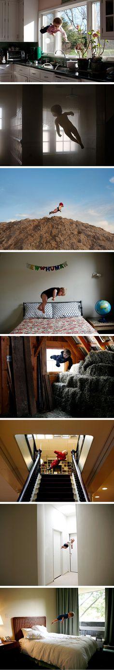 Rachel Hulin's amazing 'levitating' baby photography.