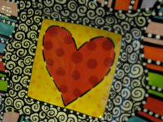 Heart With Stripes Square Dish. by shannondesigns on Etsy