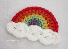 Repeat Crafter Me: Crochet Rainbow Applique