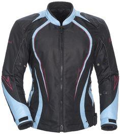 Cortech LRX Series 3 Light Blue Medium Womens Textile Motorcycle Jacket