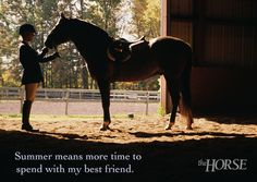 Summer means more time to spend with my best friend. #summer2014 #horses