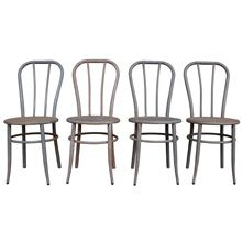 Set of 4 Raw Steel William V. Willis Company Chairs c1910  | Restored Antique Lighting, Salvage, Antiques & Vintage Finds from Rejuvenation