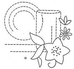 Hand Embroidery Pattern 3200 Flowers and Dishes by BlondiesSpot