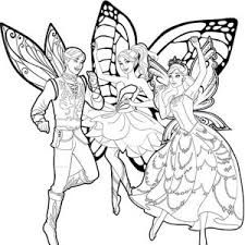 Barbie Mariposa And Her Butterfly Fairy Friends Coloring Pages PagesFull Size