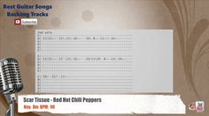 Scar Tissue - Red Hot Chili Peppers Vocal Backing Track with scale, chor...