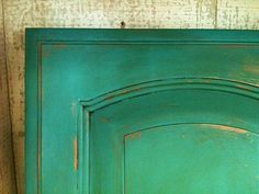 Florence Chalk Paint (tm) over maple cabinet with clear and dark wax.  Stunning! Budget ReDesign LLC.