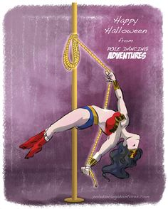 *Pole Dancing Adventures (PDA) - The Original Pole Dance Webcomic Series: Happy Halloween from PDA!