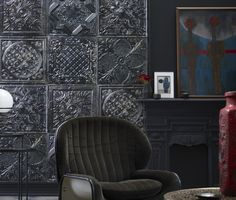 Wall mural by KOZIEL. The new Tin Tiles Collection ! -Victorian style-