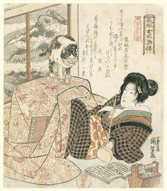 Utagawa Kuniyoshi - Woman and cat, 1832
