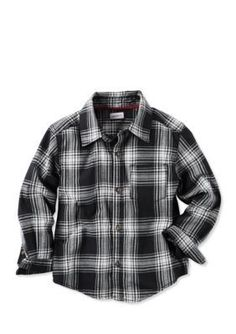 Carters  Plaid Flannel Button Front Shirt Toddler Boys