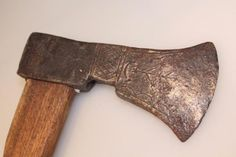 Old decorated axe from Nijverdal, Netherlands